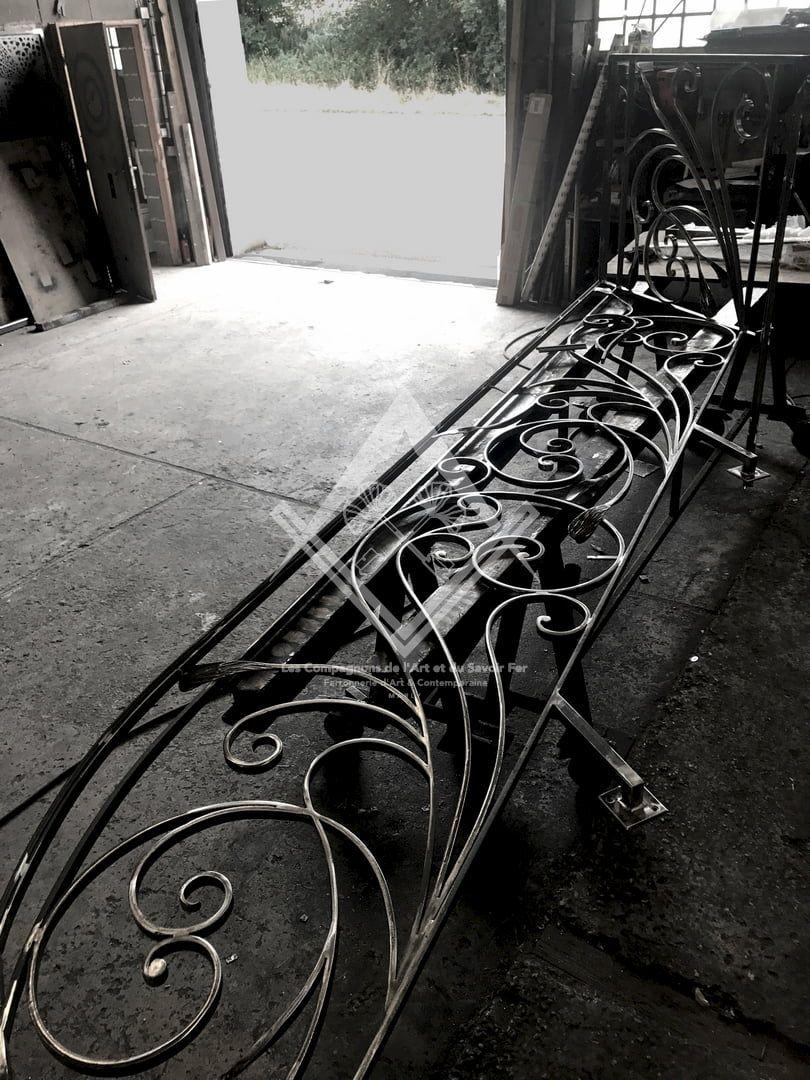 Fabrication de Rampes & Gardes Corps contemporain sur mesure en acier, fer forgé, à Marly, Metz, Nancy, Luxembourg