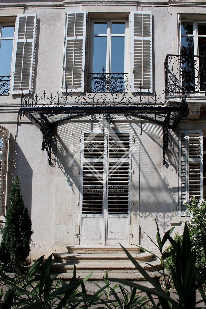 Marquises et Auvents en Acier, Fer forgé et verre à Marly, Metz, Nancy, Thionville
